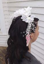 Vtg Bridal Hair Comb Wedding Hairpiece Bride Hair Head Adornment T & G 80s Retro
