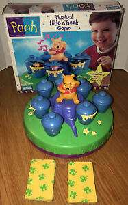 Pooh Musical Hide N' Seek Game Winnie the Pooh 1996 Motorized Honey Pot Match