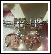 Alloy Pink European Jewellery Charms