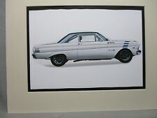 1964 Ford Falcon   Artist art Auto Museum Full color  Illustrated