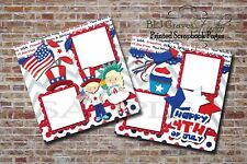 July 4th Independence Day 2 PRINTED Premade Scrapbook Pages BLJgraves 13BL