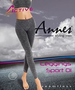 ANNES Sport 01 Luxury Super Soft Comfort Seamless Leggings - Made In Italy