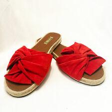Louise et Cie | 'Camille' Red Suede Espadrille Slide Sandal– Size 9.5