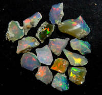 FIRE OPAL LOT 100% NATURAL FIRE ETHIOPIAN OPAL ROUGH LOT STUNNING CAB MATERIAL