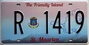St Maarten St Martin Crest Graphic License Licence  Number Plate R 1419