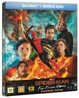 Spider Man Far From Home Limited Edition Steelbook Blu Ray + Bonus Blu Ray