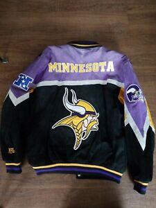 NFL Minnesota Vikings Suede Leather Jacket XL