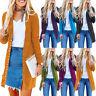 Women's Long Sleeve Button Cardigan Loose Knitted Sweater Jacket Coat Outwear