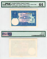 FMS Kedah Rubber Export Coupon 1 Picul KNB23 (1934-42) PMG 64