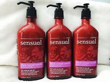 3 Bath Body Works Aromatherapy SENSUAL BLACK CURRANT VANILLA Body Hand Lotion