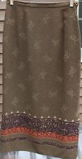 Woman's Dark Green Multi-Colored Skirt by Karen Scott; Size:  8