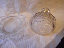 Pressed Glass Covered Butter/Cheese Dish