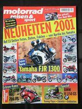 Motorrad Reisen & Sport 10/2000 Kawasaki ZX-12R FJR1300 R1150GS Intermot