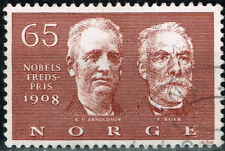 Norway Famous Writers 1908 Nobel Price Winners Arnoldson and Bajer stamp
