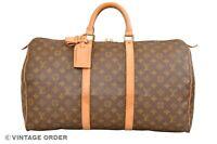 Louis Vuitton Monogram Keepall 50 Travel Bag M41426 - YG01197