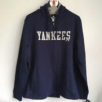 NEW Fanatics New York Yankees MLB Zip Up Hoodie Sweatshirt Size XL Block Writing