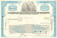 Royal Dutch Petroleum Company > Netherlands N.V. oil stock certificate share