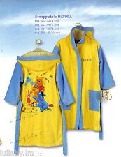 Accappatoio Cappuccio Winnie Pooh Azzurro Giallo 2/4 4/6 6/8 anni Disney Caleffi