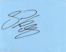Sam Aston Autograph - Coronation Street - Signed Page - Hand Signed - AFTAL
