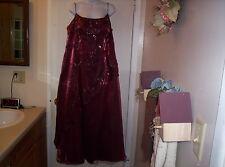 Brides Maid dress with match scarf- cranberry sz XXXL