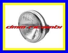 Faro anteriore nero cromato universale moto custom naked fanale gruppo ottico
