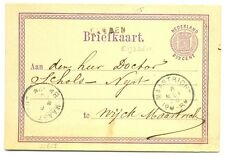 NEDERLAND 1874  BRIEFKAART   - LANGST.=  EIJSDEN =  FRAAI