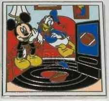 MICKEY+DONALD WATCHING FOOTBALL ON TV A DAY IN THE LIFE OF LE 500 Disney PIN