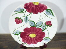 "Blue Ridge set Luncheon 8-1/2"" plate Astor red floral Becky pattern U.S.A."