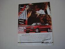 advertising Pubblicità 1991 OPEL KADETT CABRIO BERTONE