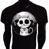 Zombie Cat T-Shirt Mens Womens Goth Rock Kitty Undead Corpse Nightmare Horror