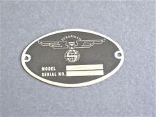 """Stearman DEA Required """"Aircraft Identification Data Plate"""" Stainless Steel"""