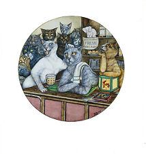 Funny Cat Art Print Zoe Stokes Original Vintage Cat Artwork Cats Home Decor