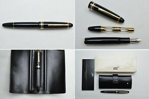 Montblanc Meisterstuck Legrand 147 Traveller Fountain Pen and Leather Pouch
