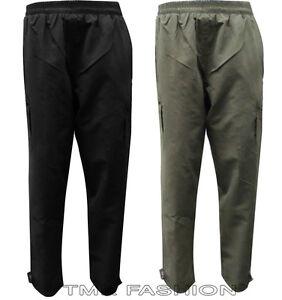 Gents Men's Thermal Fleece Lined Elasticated Cargo Combat Work Walking Trouser