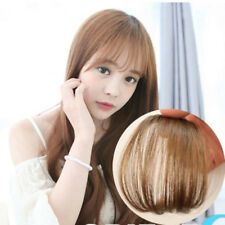 Real Human Hair Thin Neat Air Bangs Extension Clip In Fringe Front Hairpiece