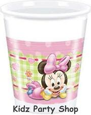 8 Disney Pink Baby Minnie Mouse Party 200ml Disposable Plastic Cups