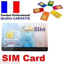 CARTE SUPER SIM VIERGE COPIE SAUVEGARDE CLONE TELEPHONE PORTABLE SUPERSIM