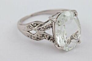 Damenring Ring Silber Stein Glas Zirkonia Größe 54 3,74gr. 925er Silber 1332