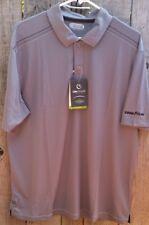 NWT Men's On Tour Gray Golf Shirt Web Tech 100 Series Sz Large GOODYEAR Logo
