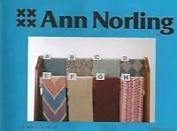 Scarves to Knit 8 Reversible Design Knitting Instruction Pattern Ann Norling #33