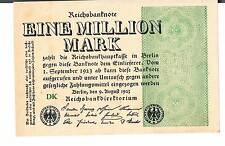 Billete Alemania 1 millones de P102b 1923 Au Unc