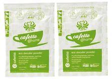2x 25g Cafetto Coffee Machine Descaler Organic Powder Cleaner