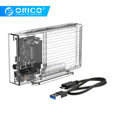 "ORICO 2.5"" Dual 2 Bay USB 3.0 SATA HDD SSD Hard Drive Enclosure w/ Power Adapter"
