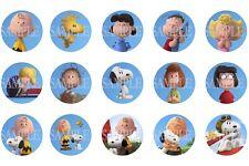 15 Pre-Cut Peanuts 1 Inch Bottle Cap Images