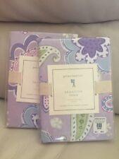 2 Pottery Barn Kids Samantha Standard shams Butterfly🦋 Paisley Floral Lavender