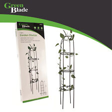 New Winding Plant Outdoor Garden Green Metal Obelisk Support Frame
