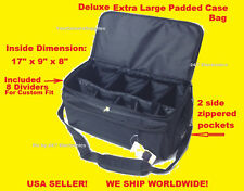 EXTRA LARGE SIZE CARRYING CASE PRO BAG TO DIGITAL CAMERA CAMCORDER HANDYCAM