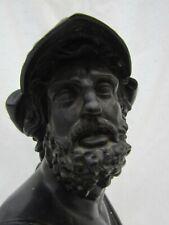 More details for bronze bust of a greek? mythological figure, dates mid 19th c.