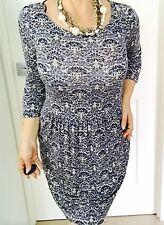 Esprit Womens Dress Floral Print Viscose Elastane 3/4 SLV Sz M