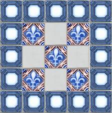 26 original antique tiles Ca1870 France Pas Calais Provecal Style table kitchen
